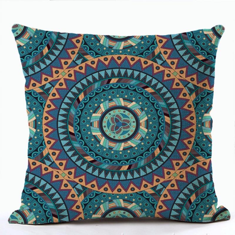 Funda de almohada Mandala Oriente Medio Armenia India Oriental Bliss sol Luna arararat flor arabesco funda de cojín sofá