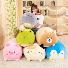 Soft Animal Cartoon Pillow Cushion Cute Fat Dog Cat Totoro Penguin Pig Frog Plush Toy Stuffed Lovely kids Birthday Gift  Kawaii