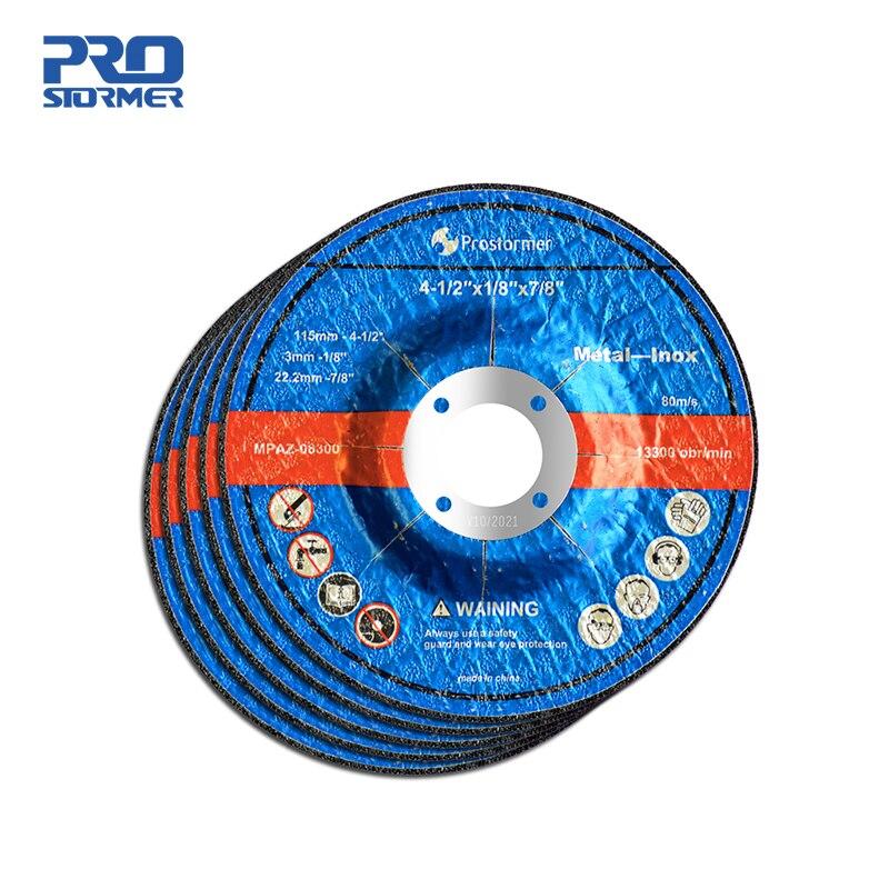 PROSTORMER 1mm/3mm 115mm rueda de molienda rebanada 5 piezas adecuadas para amoladora eléctrica sin cable de 20V