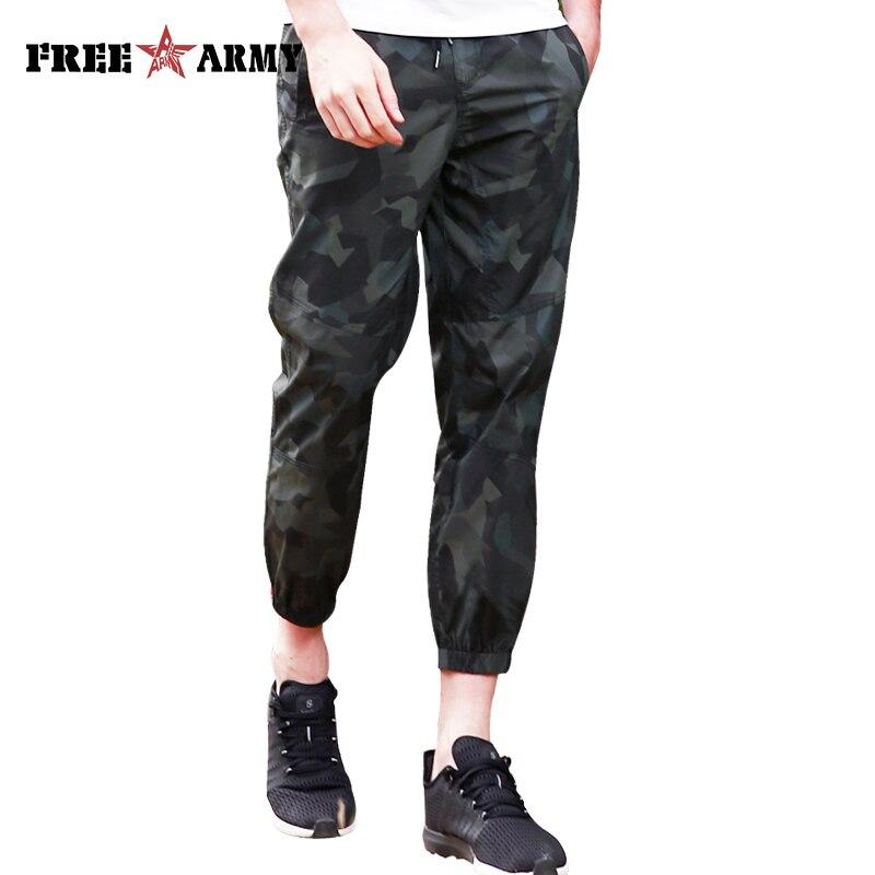Brand Blue Camo Casual Pants Summer Men Slim Fashion Trousers Pants Male Joggers Cotton Sweatpants Elastic Drawstring Waist Free