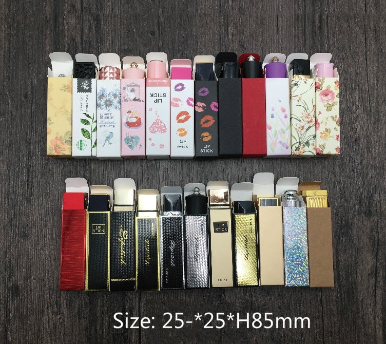 Paper box for lipstick, lip bloss,  lip balm box,  lipstick tube packing box size 25*25*85mm
