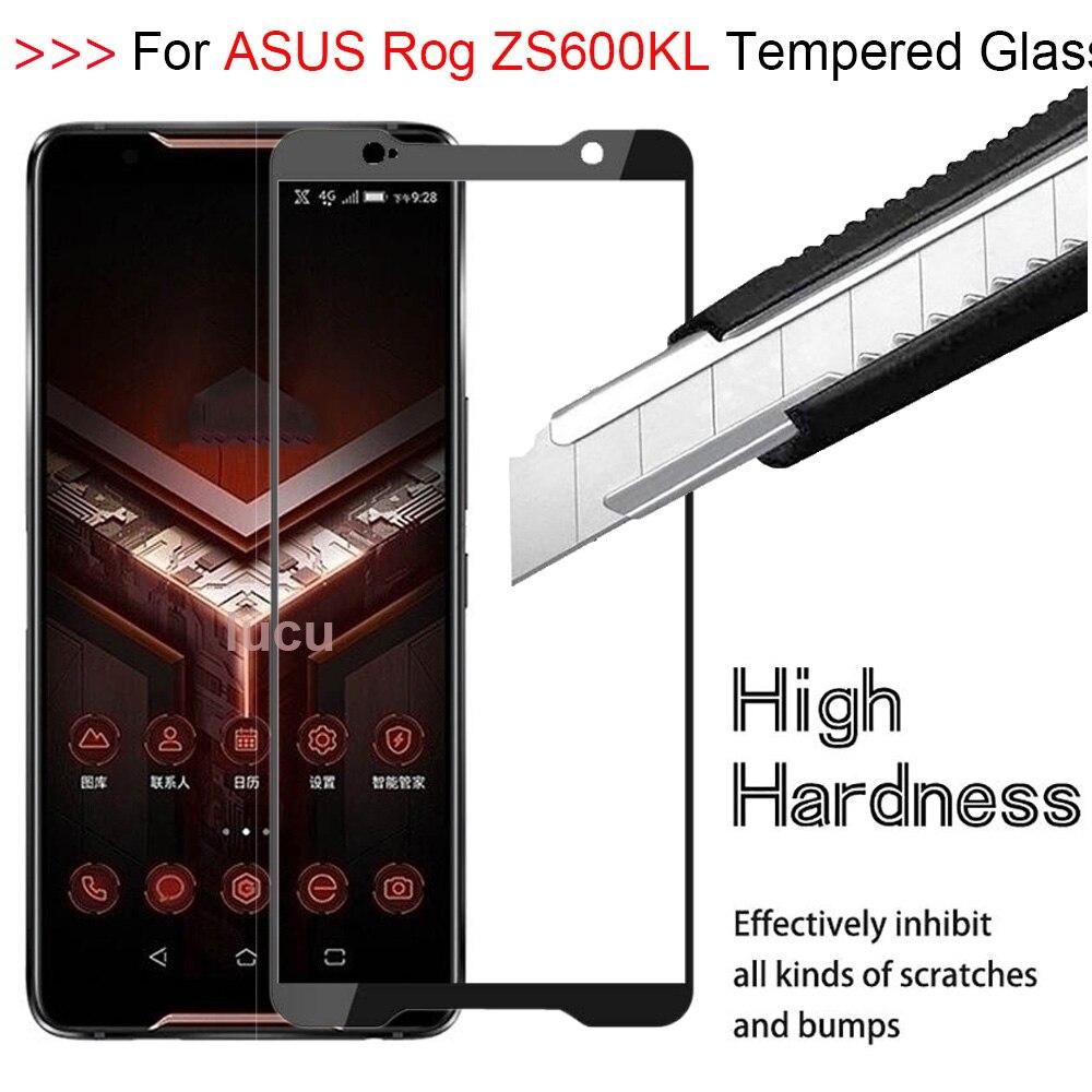 9H 3D pegamento completo cubierta de vidrio templado para Asus Zenfone Rog teléfono ZS600KL HD cobertura completa Protector de pantalla película vidrio protectora