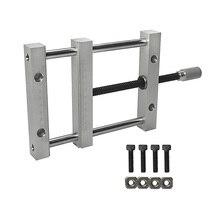 Pinzas planas manumotive 160mm tornillo precisión paralelo mandíbula plana tornillo QGG con anchura máxima de sujeción 140mm para cnc 3020 3040