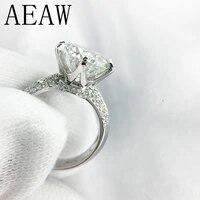 14k 585 white gold 3ct moissanite diamond engagement ring for women fine jewelry center 9mm f color moissanite ring