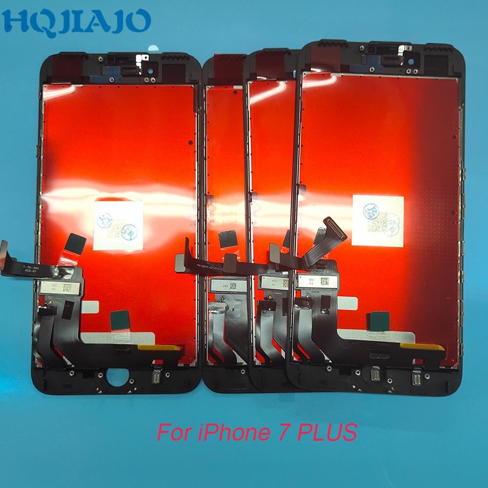 مجموعة شاشة لمس LCD ، 5 قطع ، بدون بكسل ميت ، لهاتف iPhone 7 Plus 8 Plus