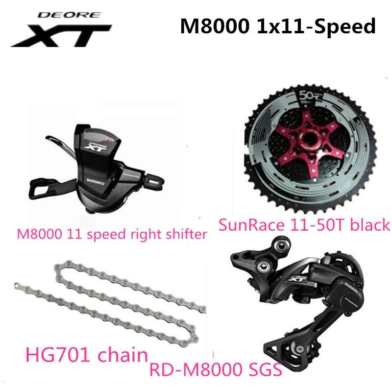 XT M8000 11 desviadores de bicicleta de velocidad Groupset desviadores traseros + + hg701 cadena + palanca de cambio