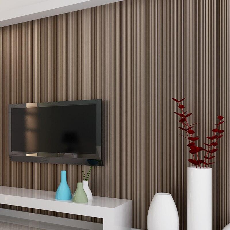Color sólido rayas papel 3D no tejido flocado papel rollo dormitorio habitación papel tapiz clásico decoración para el hogar moderno 10M