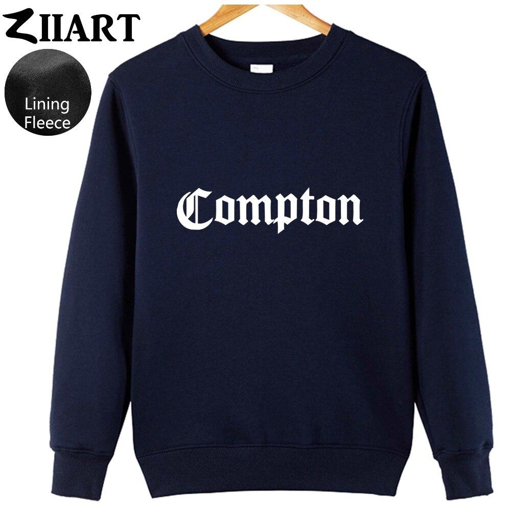 Compton Gothic font Hip Hop Rap couple clothes boys man male fleece Sweatshirt