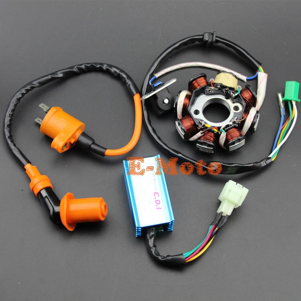 GY6 150 8 Pole статор катушка гоночный CDI Коробка катушка зажигания 150CC производительности ATV Go Kart новый E-Moto