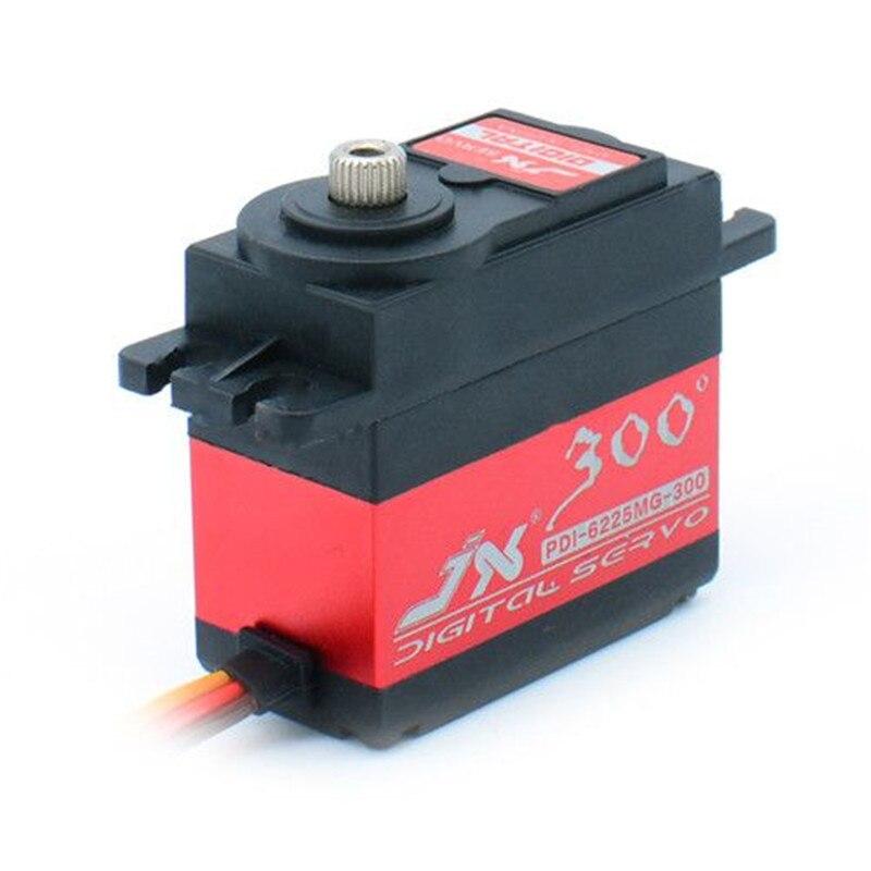 JX PDI-6225MG-300 ° 25 KG 300 ° haute précision engrenage métallique norme numérique Servo pour Robot bras mécanique bricolage conseil