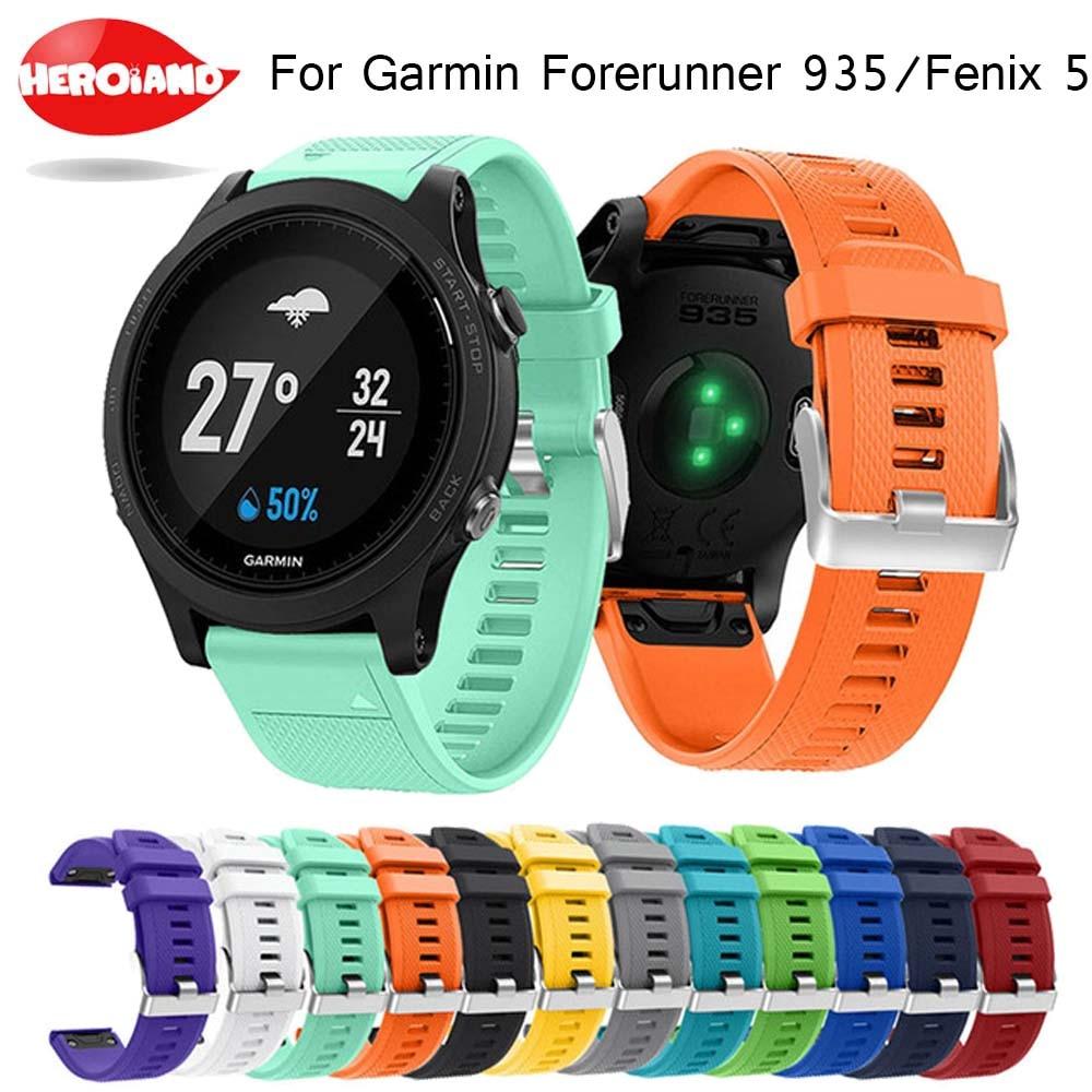 Ремешок для наручных часов с быстроразъемным ремешком для Garmin Fenix 5 forerunner 935 GPS ремешок для часов с модным спортивным силиконовым принтом