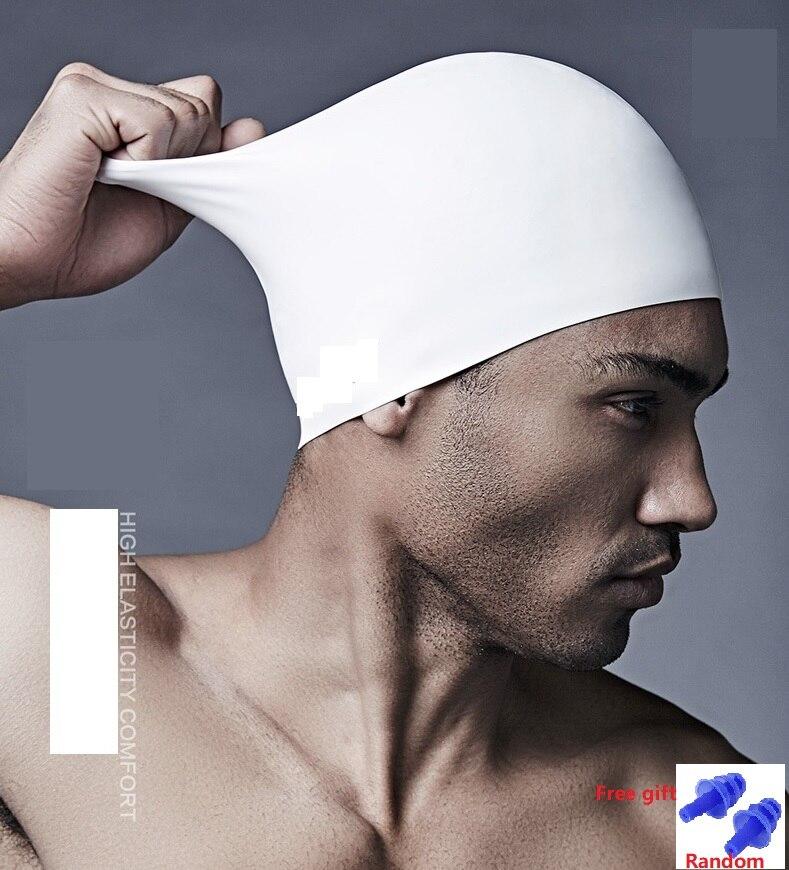 Waterproof Silicone Swimming Caps Man Woman Mens Adult Kids  Ear Water Hair Protection Swim Bathing Pool Hat Neoprene Rubber