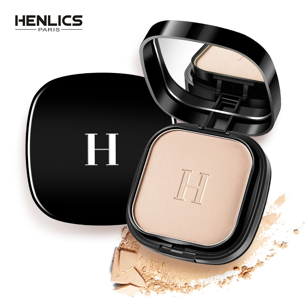 HENLICS Makeup Cosmetics Face Pressed Powder Foundation Mineral Waterproof  Brighten Matte Setting Powder Contour Make up Powder недорого