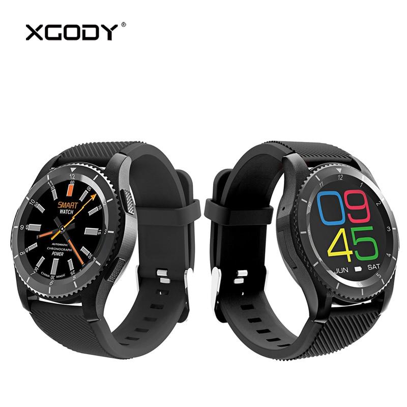 Reloj inteligente XGODY G8 2G desbloqueado con tarjeta Sim para iOS Monitor de ritmo cardiaco para Android presión arterial Reloj de pulsera para hombres