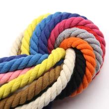 Cordon en coton torsadé 100% coton   10 mètres 3 parts, corde de décoration artisanale de bricolage 10mm, cordon en coton pour sac, cordon de serrage, ceinture 20 couleurs