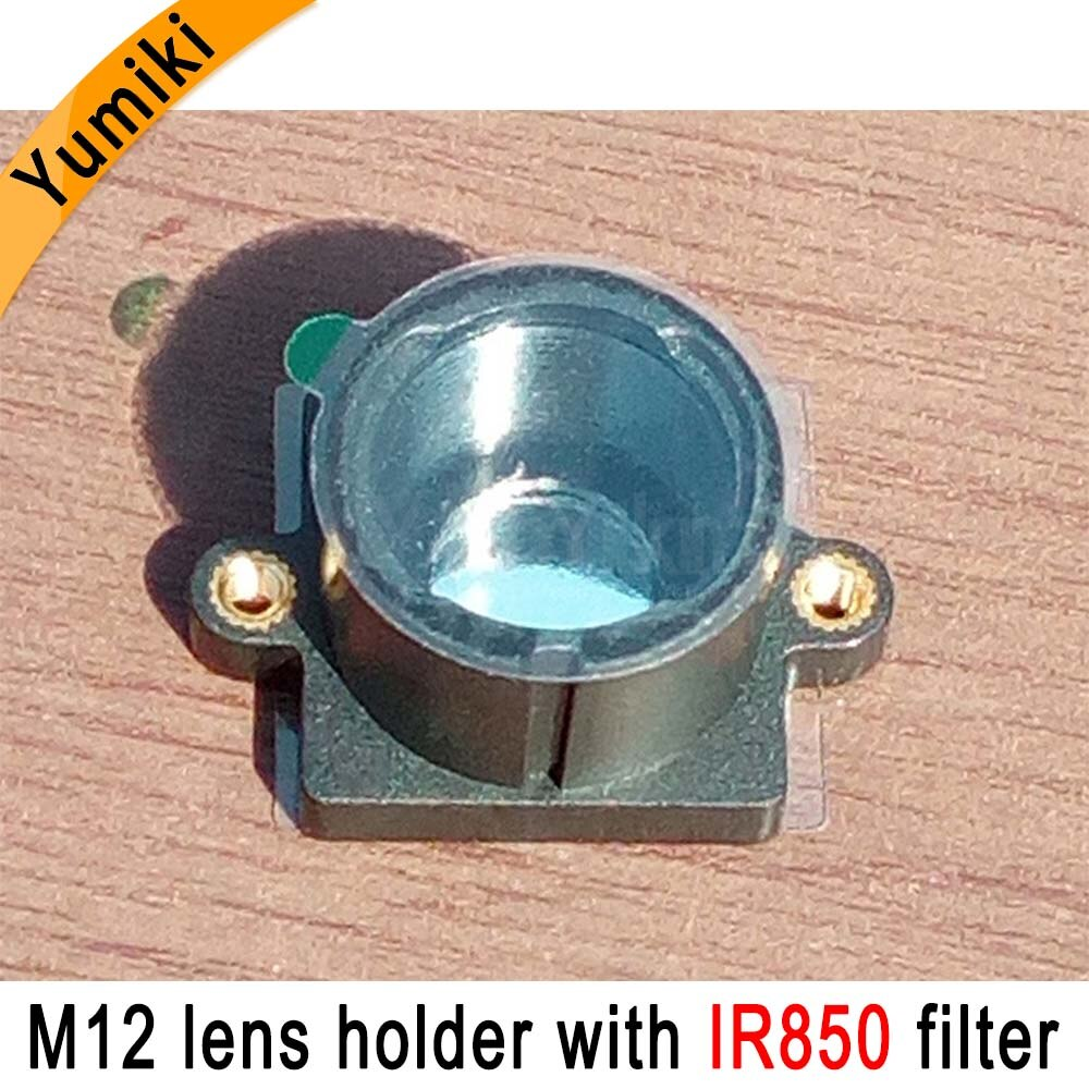 Yumiki M12 de montaje de lentes MTV cámara CCTV de seguridad m12 lente soporte con IR850nm filtro