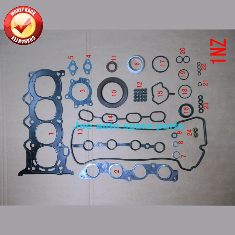 Полный комплект прокладок двигателя 1nzfe 1497CC 2NZ 2NZFE 1299CC для Toyota ECHO/YARIS/ALTIS 1.3L 1.5L 1995-2005 50176900