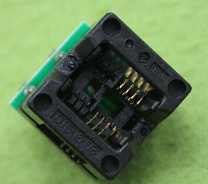 شحن مجاني 10 قطعة/الوحدة SOP8 بدوره DIP8 SOP8 إلى DIP8 IC المقبس مبرمج محول المقبس 150mil