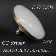 UFO LED Bulb real power LED UFO Light 12W Aluminum housing LED Lamp E27 220v 230v 240v Lampara Ampoule Lampada