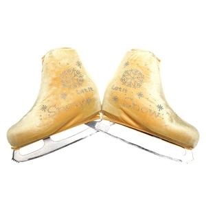 Nasinaya Figure Skating Shoes Cover Velvet for Kids Adult Protective Roller Skate Ice Skating Accessories shiny Rhinestones 19