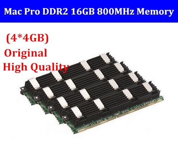 Para macpro memória 16 gb ddr2 800mhz fb-dimm mac pro16gb (4x4 gb) ddr2 PC2-6400 ecc DDR2-800 para mac pro 1,1 2,1 3,1