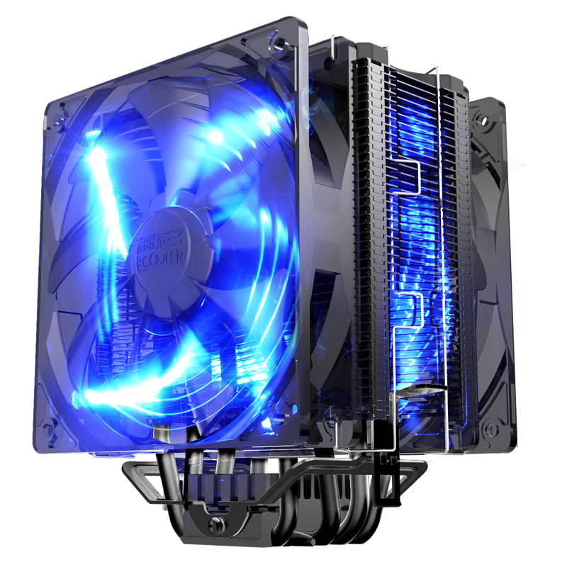 Dual-fan 12cm With PWM 5 heatpipe heatsink CPU cooler fan cooling for Intel 775 1151 115x 1366 radiator for AMD CPU PcCooler X6