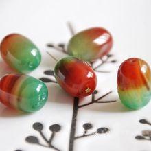 4 pcs/lot naturel vert rouge paon pierre baril perles en vrac fabrication de bijoux bricolage pour les femmes