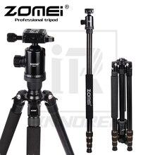 Zomei Z668 المهنية سبائك الألومنيوم ترايبود عدة Monopod ل DSLR ضوء الكاميرا المدمجة قائم متنقل أفضل من Q666