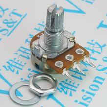 5 pcs wh148 측면 삽입 단일 전위차계 b500k 500 k 15mm 수평 짧은 핸들 삼각대