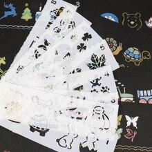 8pc ajouré enfant peinture pochoir bricolage Scrapbooking Album décoratif balle Journal accessoires modèle dessin pochoirs décor