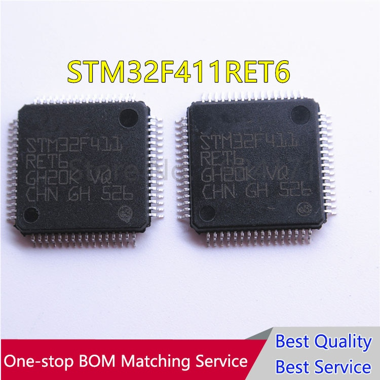 10pcs STM32F411RET6 STM32F411RE STM32F411 QFP64 Novo