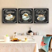 Affiches et imprimés de café Vintage de cuisine   Toile, peinture, ornement scandinave, décor de cuisine de Style nordique, chambre denfants, Bars café