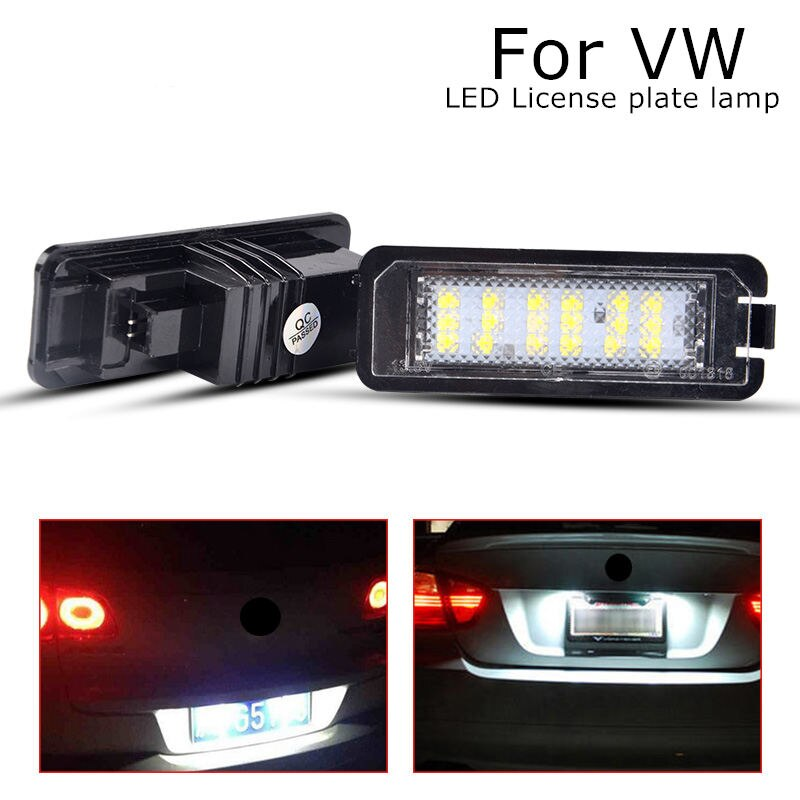2 uds. De lámparas LED de luz de placa de matrícula, accesorios de Exterior para coche para volkswagen Lupo polo Scirocco CC VI EOS GOLF 4 5 6 7