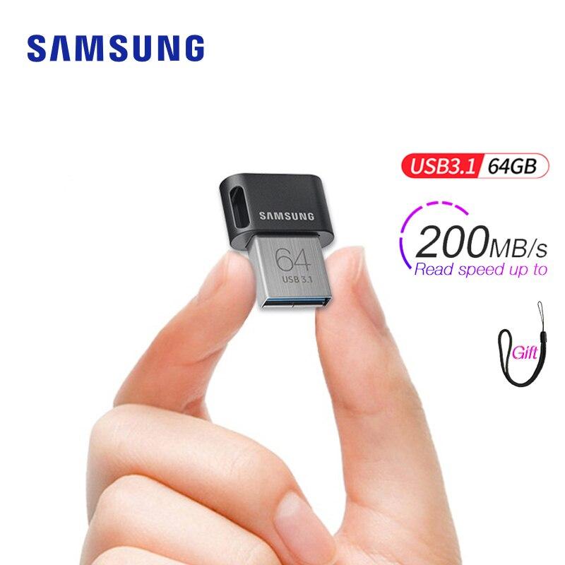 Samsung-unidad de Memoria USB 3,1, pendrive de 64gb, 32gb, hasta 200 MB/s,...