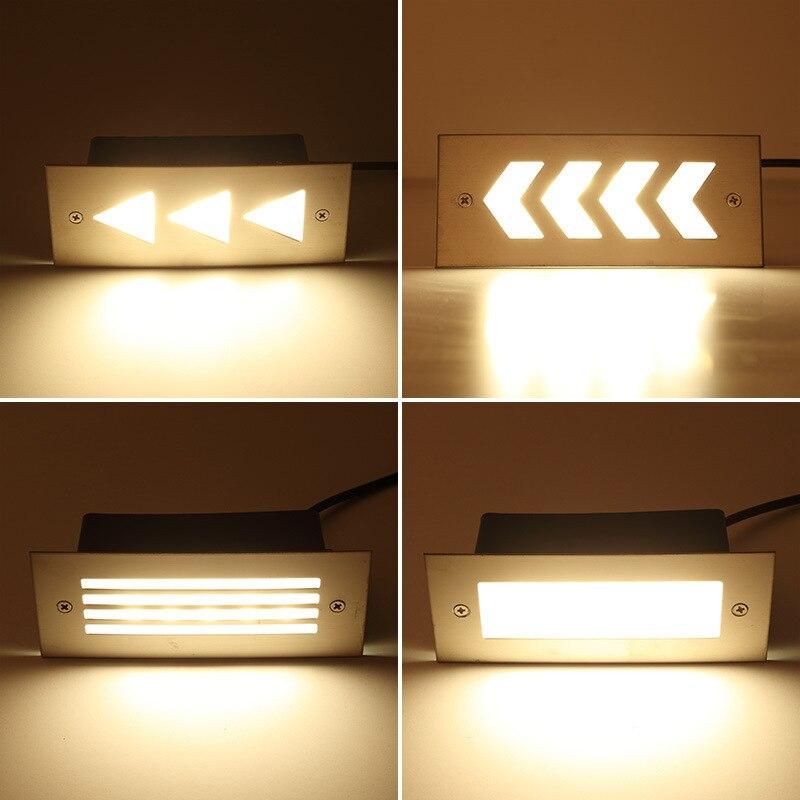LukLoy LED Pie de luz al aire libre impermeable parche incrustado cuadrado pasos 3w4w Rectangular esquina colorida luz subterránea
