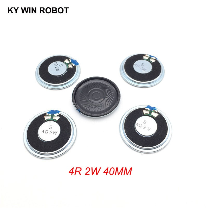 5 unids/lote nuevo Mini altavoz ultradelgado 4 ohmios 2 vatios 2W 4R diámetro del altavoz 40MM 4CM de espesor 5MM