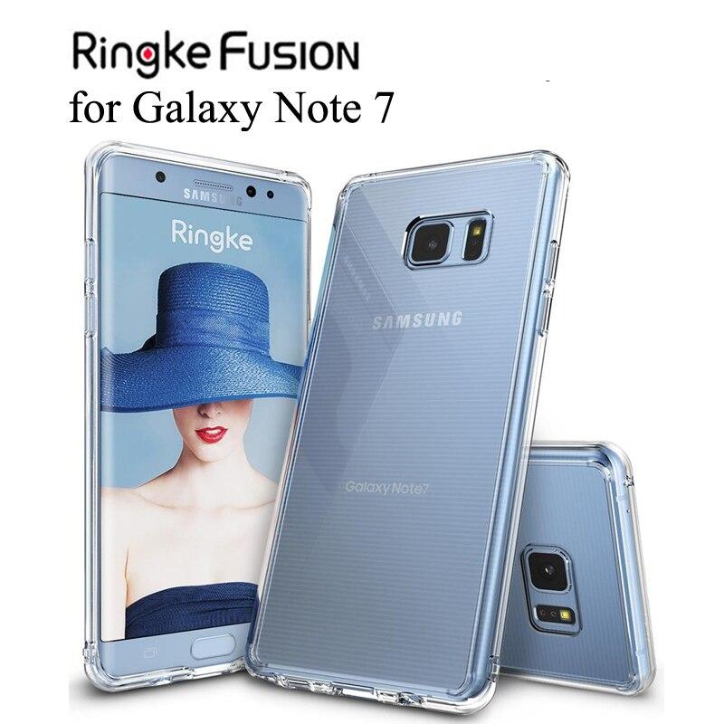 Ringke Fusion para Galaxy Note 7, Funda Flexible de Tpu y cubierta trasera dura transparente, funda híbrida Note FE para Galaxy Note Fan Edition