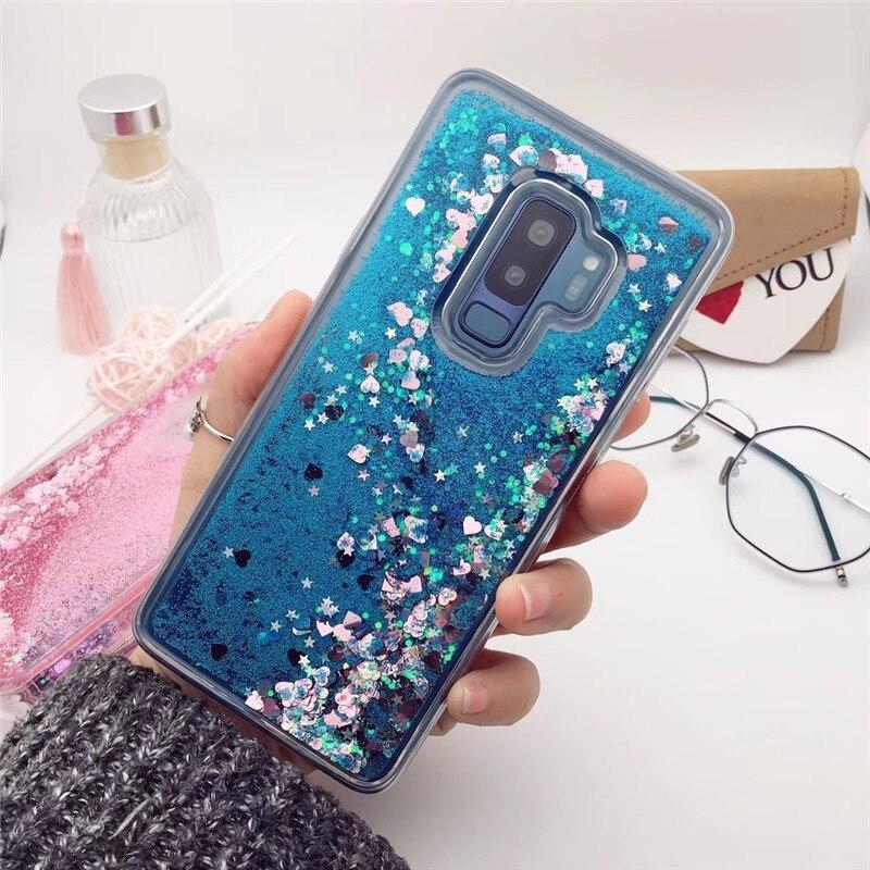 Bling Glitter arenas movedizas caso suave para Samsung Galaxy S10 5G S9 S8 más S7 S6 S5 M20 A30 A50 J3 J4 J6 2018 A7 J7 2017 A9S cubierta