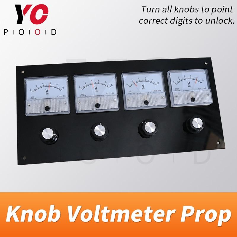 مقياس الفولتميتر مع مقبض ، ملحق غرفة الهروب الحقيقي ، قم بتدوير جميع المقابض إلى الوضع الصحيح ، نقطة الأرقام الصحيحة لفتح takagism ، المورد yopwood