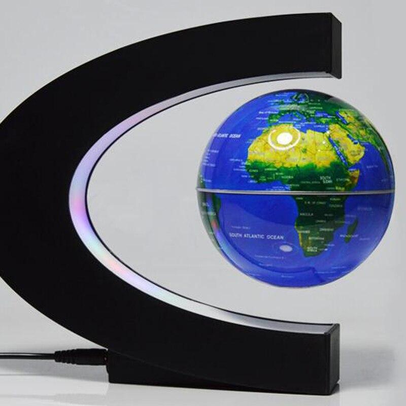 C Форма магнитной левитации Монтессори географический Глобус плавающая карта мира Tellurion LED Light Terrestre обучающие игрушки для детей