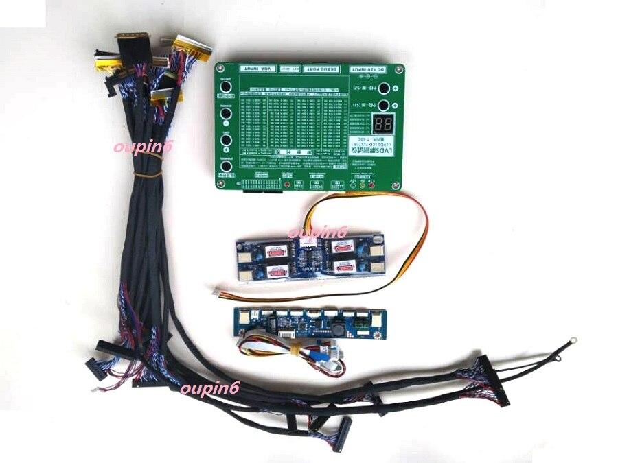 مجموعة أدوات اختبار شاشة الكمبيوتر المحمول ، مجموعة أدوات إصلاح شاشة LCD ، تلفزيون LED ، 14 قطعة ، كابل LVDS