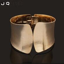 Hot Koop Fashion Designer Jewelry Elegent Lichtmetalen Wide Lente Manchet Geopend Armband Armbanden Statement Sieraden Voor Vrouwen