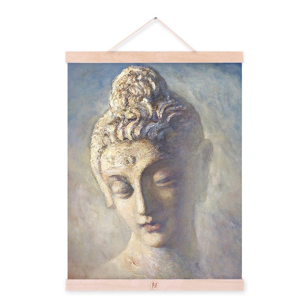 Vintage Retro Asian Buddha Zen Portrait A4 Large Art Prints Poster Classic Wall Picture Canvas Oil Painting Customd Home Decor