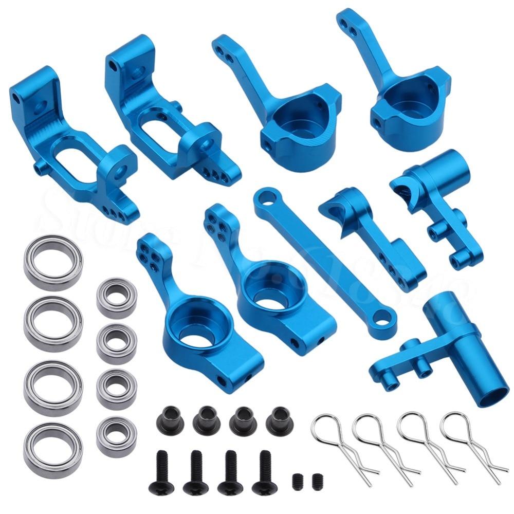 Hsp 102010 102011 102012 102040 102057 02013 02014 02015 1/10 rc peças de atualização do carro de alumínio rolamento do cubo direção rolamentos esferas