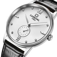 New Switzerland Carnival Luxury Brand Men's Watches Ultra-thin Business Japan Quartz Movement Waterproof Diamond Clock C8708-3