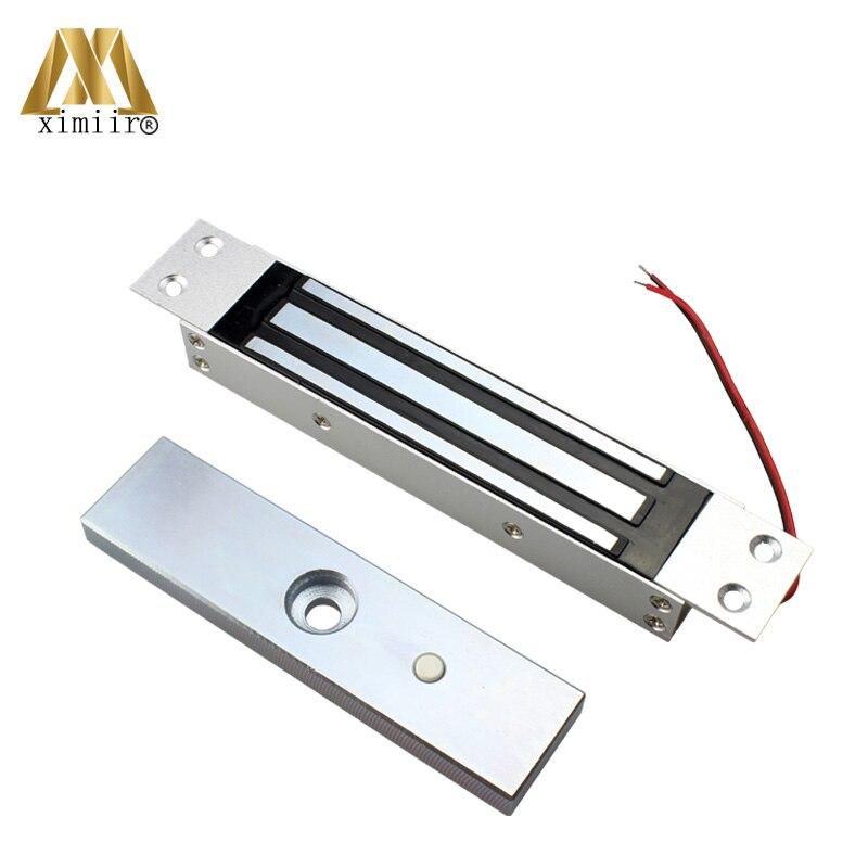 Para controlador de acceso EM Lock 180M sin salida de detección de posición de puerta DC12V 180KG Cerradura Electromagnética de acero inoxidable