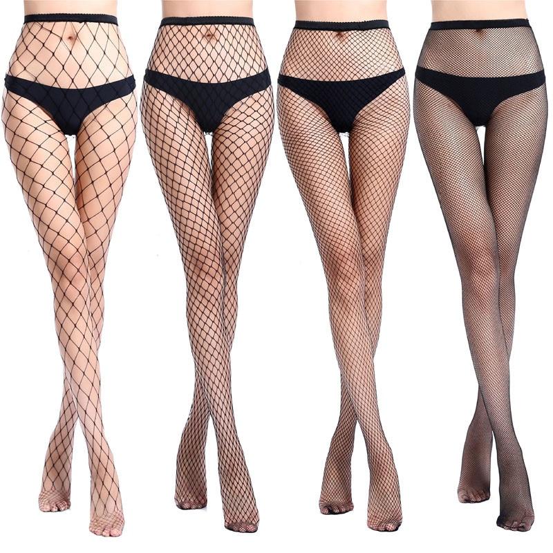 Venta caliente de las mujeres Sexy medias de rejilla de pescado pantimedias de red medias de malla ropa interior de la piel de alta del muslo medias