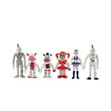 6 pièces/ensemble cinq nuits à Freddys FNAF monde Ballora cirque bébé Ennard Foxy Freddy Chica Freddy PVC figurine jouets 11-14 cm