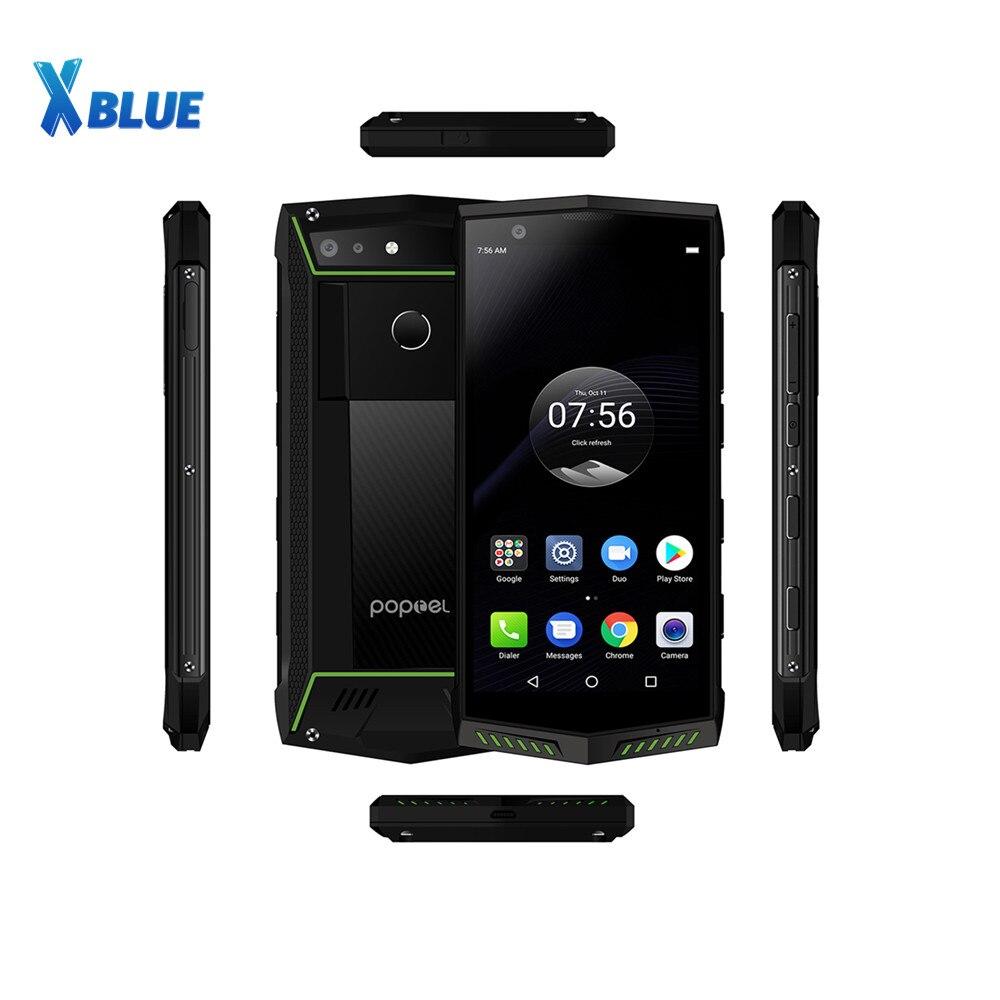 Poptel P60 смартфон с 5,7-дюймовым дисплеем, ОЗУ 6 ГБ, ПЗУ 128 ГБ, 5000 мАч, Android 8,1, 16 МП