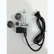 Ue RU 220V régulateur daquarium CO2   Électrovanne magnétique à clapet de contrôle, Aquarium compteur à bulles, eau plante réservoir de poissons, contrôle de CO2 W21.8